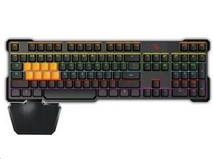 A4Tech Bloody B720, herná klávesnica, čierna, drôtová (USB), CZ, mechanická, podsvietená