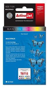ActiveJet kompatibil Epson T0715, multipack, 60ml