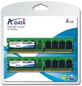 Adata DDRAM2 4GB (2x2GB) 800 MHz CL5, ram