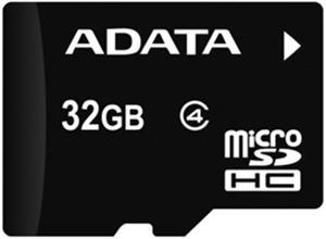 Adata microSDHC 32GB class 4 + adaptér, pamäťová karta