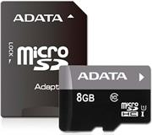 ADATA Premier, microSDHC, 8GB + adaptér