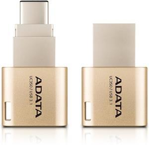 Adata UC350 32GB, flashdisk, USB 3.1 typ C, zlatý