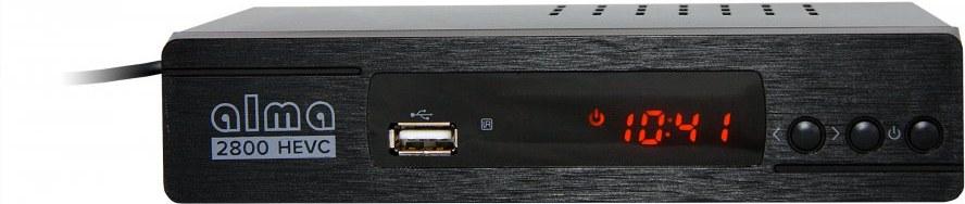 Alma 2800, DVB-T2 HD prijímač s HEVC DVB-T2 overené