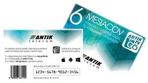 ANTIK TV GO voucher 6 mesiacov mobilná televízia