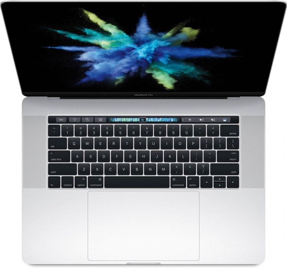 "Apple MacBook Pro, 15"", Retina, Touch Bar, 512 GB SSD, strieborný"
