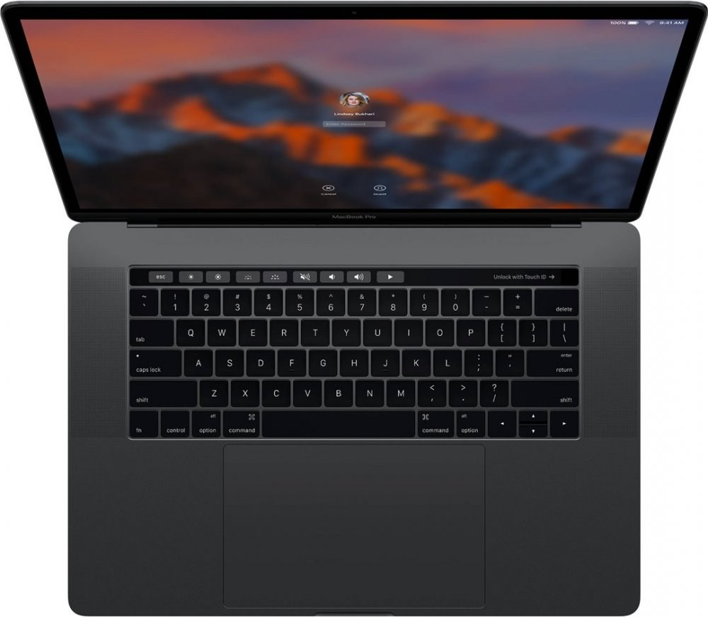 "Apple MacBook Pro, 15"", Retina, Touch Bar, Core i7, 256 GB SSD, sivý"