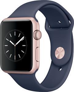 Apple Watch Series1 42mm, ružovo-zlatý hliník, modrý remienok