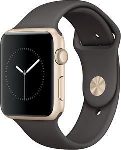 Apple Watch Series1 42mm, zlatý hliník, hnedý športový remienok