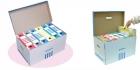 Archívna škatuľa DONAU so sklápacím vekom modrá