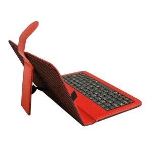 ART puzdro + klávesnica micro + mini USB pre TABLET 7'' červené AB-101C
