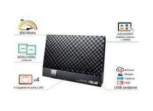 ASUS ADSL/VDSL DSL-N17U, WiFi, 2x USB, 2.4 GHz