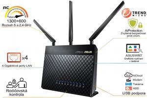 Asus RT-AC68U AC1900, Dual-Band, WiFi, USB