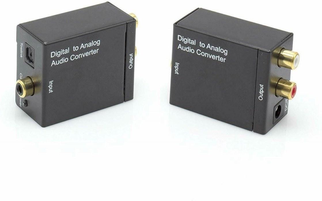Audio prevodník z digitálneho signálu SPDIF a optického Toslink na analógový 2xCinch