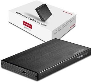 """Axago EE25-XA3, USB 3.0 - SATA 2,5"""" externý hliníkový box Black"""