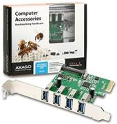 AXAGO PCI-Express adapter 4x USB3.0 Renesas + LP