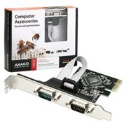 AXAGO PCIe adapter 2x sériový port + LP