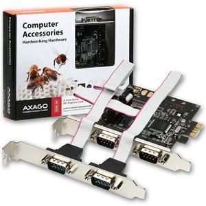 AXAGO PCIe adapter 4x sériový port