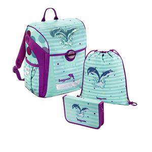 Baggymax Trikky Delfíny, školská aktovka - 3-dielny set