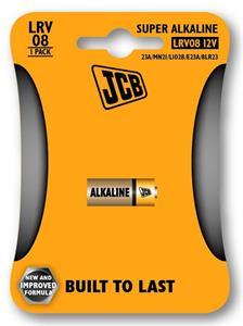 Batéria JCB alkalická LRV08/12V, LR08/23A/MN21/LI028/E23A/8LR23, 1 ks