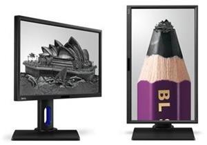"""BenQ LCD BL2420U 24""""W LED IPS/3840x2160/20M :1/7ms/DVI-DL/DP1.2/HDMI 1.4/HDMI 2.0/DP 1.2a/2xUSB 3.0/Repro/HAS/Pivot/VES"""