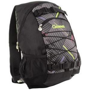 Black Comp, Chiemsee Stripe Check Black, ruksak, čierny