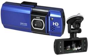CEL-TEC E07 - palubná kamera do auta 1080p, microSD/SDHC, WDR, modrá