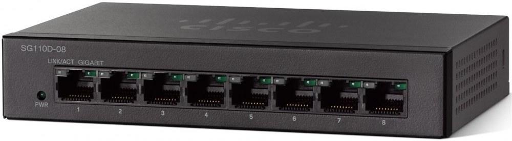 Cisco SG110D-08, 8-Port Gigabit Desktop Switch