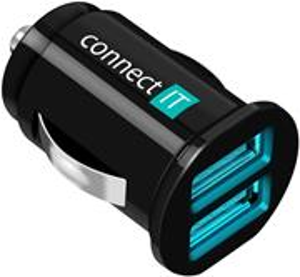 Connect IT CI-176, auto adaptér, 2 x USB 2.1A a 1A
