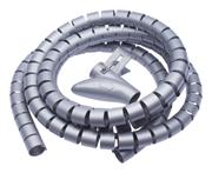 CONNECT IT trubice pre vedenie káblov WINDER, 2,5mx20mm, sivá