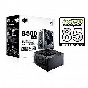 Cooler Master B2 series 500W PFC v2.3, 12cm fan, eff. 85% - ErP 2013, čierny