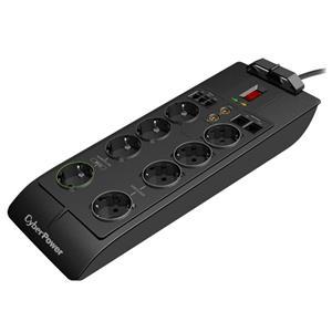 CyberPower Surge Buster, SB0801PRG-FR , 8 FR, RJ11,RJ45, TV, 2,4m