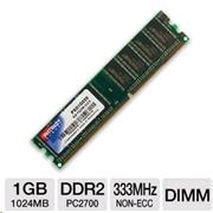 DDRAM 1GB Patriot 333MHz CL2.5 DIMM