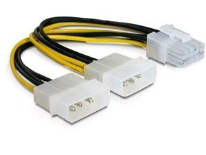 Delock napájací kábel 2xHDD -> 1xPCI Express 8pin