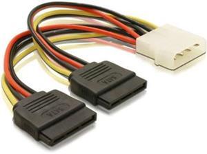 DeLock redukcia napájania z Molex 4-pin na 2x SATA 15-pin