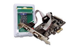 Digitus Adaptér PCI Express x1 2xseriový port, +low profile