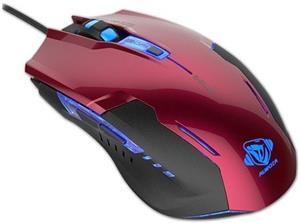 E-Blue Auroza G, optická myš, drôtová, USB, červená, herná