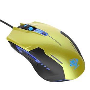 E-Blue Auroza G, optická myš, drôtová, USB, zelená, herná