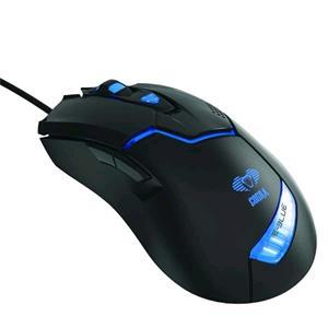 E-Blue Cobra, drôtová myš, USB, čierna, 1600dpi, herná