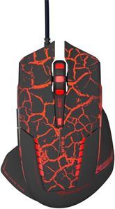 E-Blue Mazer Pro, herná myš, optická, drôtová, USB, čierno-červená