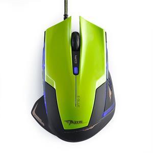 E-Blue Mazer R, optická myš, drôtová, USB, zelená