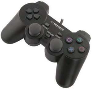 Esperanza EG106 CORSAIR gamepad s vibráciami pre PC/PS2/PS3, USB -Rozbalené