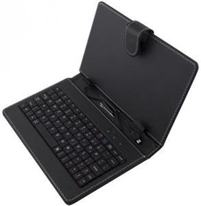 Esperanza EK127 MADERA klávesnica+puzdro pre tablet 7.85/8,USB, eko koža, čierne