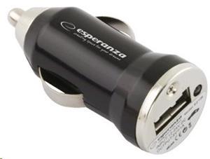 Esperanza EZ106 Univerzálna nabíjačka do auta USB | DC 12/24V | 5V | 1000mA