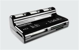 Ext. čítačka kariet + USB Hub Modecom CR-Wawe, čierna