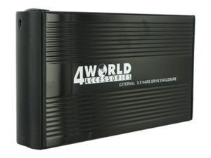 """Externý box 4World Hliníkové puzdro 3,5"""" HDD Combo IDE/SATA, USB2.0"""