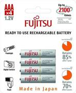 Fujitsu prednabité batérie R03/AAA, 750mAh, 2100 nabíjacích cyklov, bl