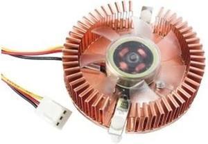 Gembird ventilátor pro grafiku VGA, medený, svietiaci na fialovo