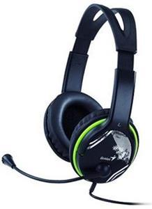 Genius HS-400A, slúchadlá s mikrofónom, green