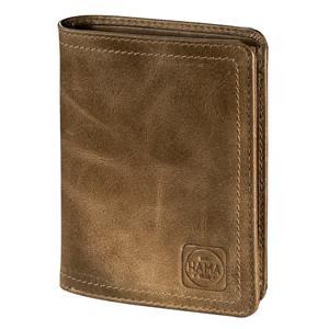 Hama 1923 Mailand, pánska kožená peňaženka s ochranou dát Cryptaloy H4C, bledohnedá