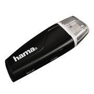 Hama čítačka kariet USB 2.0 SD/microSD, čierna